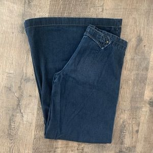 Goldsign Jeans - Goldsign Scandal Wide Leg Dark Wash Jeans (27)